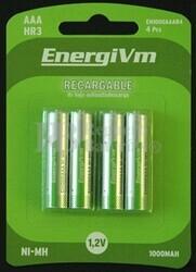 Bateria para Linternas Forntales AAA 750mAh (4 unidades)