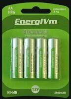 Batería para Linternas recargables AA 2.000 mAh (4 unidades)