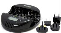 Cargador Descargador para Baterías NI-Cd y NI-MH formatos AA, AAA, C, D y 9 Voltios