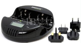 Cargador Descargador para baterias NI-Cd y NI-MH formatos AA, AAA, C, D y 9 Voltios