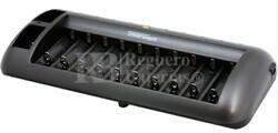 Cargador descargador hasta 10 baterías tipo AA/AAA y 2 de 9V al mismo tiempo.