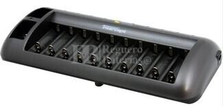 Cargador descargador hasta 10 baterías tipo AA-AAA y 2 de 9V al mismo tiempo.