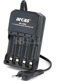 Cargador para baterias formatos AA y AAA en NI-MH