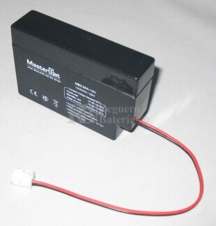 Batería para Alarma de 12 Voltios 800 Miliamperios U-POWER NP0.8-12