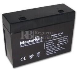 Bateria para Alarma de 12 Voltios 5 Amperios Formato especial