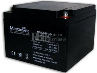 Batería para Alarma de 12 Voltios 26 Amperios U-POWER NPH26-12