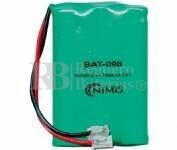 Packs de baterias recargables 3.6 Voltios 700 mAh AAA NI-MH 30,0x44,0x10,0mm