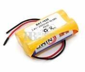 Batería para Electromedicina 2.4 Voltios 2.500 mAh AA NI-MH 28,0x50,0x14,0mm