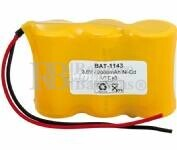 Packs de baterias recargables 3.6 Voltios 2.000 mAh NI-CD 67,20x43,5x22,5mm