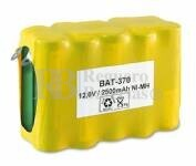 Packs de baterias recargables pre-cargadas 12 Voltios 2.300 mAh NI-MH 70,0x28,0x49,3mm