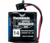 Bateria Panasonic P-P305 2.4 Voltios 300 mAh Ni-Cd