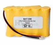 Packs de baterias recargables SAFT 6 Voltios 940 mAh AA NI-CD 70,0x49,3x14,0mm