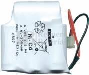 Packs de baterias recargables 4.8 Voltios 300 mAh 1/2AA NI-CD 28,0x30,0x28,0mm