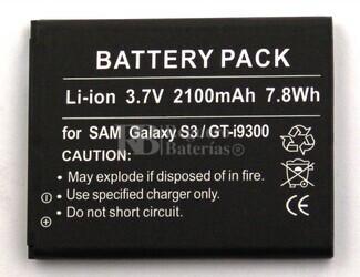 Bateria para SAMSUNG Galaxy S III, Galaxy S 3, GT-I9300 (2.100 mAh)