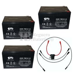 Pack batería bicicletas 36 voltios 14 amperios con conexiones