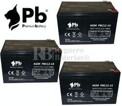 Pack batería bicicletas 36 voltios 14 amperios