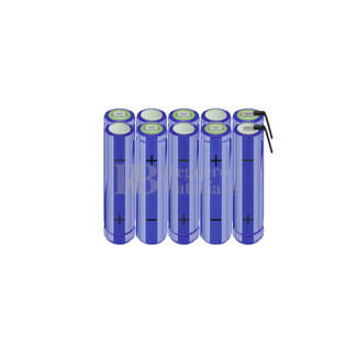 Packs de baterías AA 12 Voltios 2.000 mAh NI-MH RB90033710