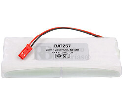 Packs de baterías radio control 7.2 Voltios 1.600 mAh NI-MH 42,0x101,0x14,0mm