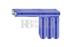 Packs de baterías AA 12 Voltios 2.000 mAh NI-MH RB90033576