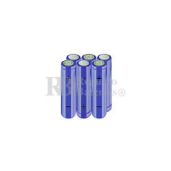 Packs de baterías AA 7.2 Voltios 2.000 mAh NI-MH RB90033345