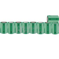 Packs de baterías SUB-C 10.8 Voltios 1.900 mAh NI-CD RB90033644