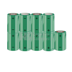 Packs de baterías SUB-C 10.8 Voltios 1.900 mAh NI-CD RB90033700