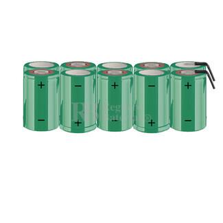 Packs de baterías SUB-C 12 Voltios 1.900 mAh NI-CD RB90033718