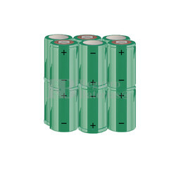Packs de baterías SUB-C 14.4 Voltios 1.900 mAh NI-CD RB90033610