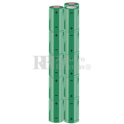 Packs de baterías SUB-C 18 Voltios 1.900 mAh NI-CD RB90033688