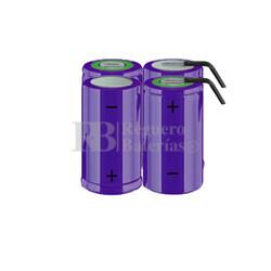 Packs de baterías tamaño D 4.8 Voltios 5.000 mAh NI-CD RB90033793