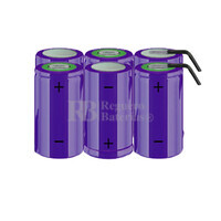 Packs de baterías tamaño D 7.2 Voltios 5.000 mAh NI-CD RB90033794