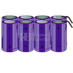 Packs de baterías tamaño D 9.6 Voltios 5.000 mAh NI-CD RB90033789