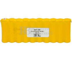 Packs de baterías pre-cargadas recargables 12 Voltios 2.300 mAh AA NI-MH 140.0x49,0x14,0mm