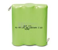 Packs de baterías pre-cargadas recargables 3.6 Voltios 2.300 mAh AA NI-MH 42,0x49,0x14,0mm