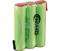 Packs de baterías pre-cargadas recargables 3.6 Voltios 900 mAh AAA NI-MH 30,0x40,0x10,0mm