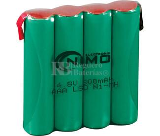Packs de baterías pre-cargadas recargables 4.8 Voltios 800 mAh AAA NI-MH 40,0x40,0x10,0mm