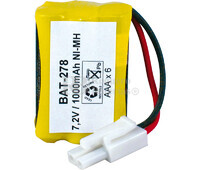 Packs de baterías radio control 7.2 Voltios 950 mAh AAA NI-MH 30,0x44,0x20,0mm