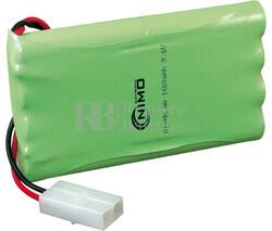 Packs de baterías radio control 9.6 Voltios 1.600 mAh AA NI-MH 101,0X57,0X15,0mm