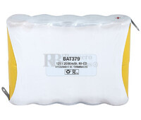 Packs de baterías recargables 12 Voltios 2.000 mAh NI-CD 112,0x85,0x22,4mm
