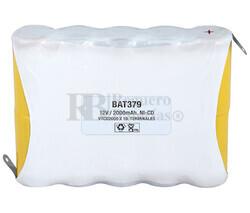 Packs de baterías recargables 12 Voltios 2.000 mAh NI-CD