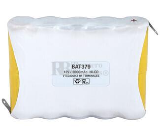 Packs de baterías recargables 12 Voltios 2.000 mAh NI-CD 112,0x85,0x22,4mm