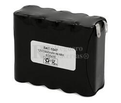 Packs de baterías recargables 12 Voltios 3.800 mAh AA NI-MH 90,0x67,0x32,0mm