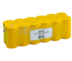 Packs de baterías recargables 14.4 Voltios 2.000 mAh NI-CD 135,0x43,5x45,5mm