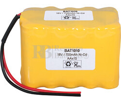 Packs de baterías recargables 18 Voltios 1.000 mAh AA NI-CD 49,0x70,0x42,0mm
