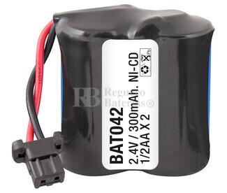 Packs de baterías recargables 2.4 Voltios 300 mAh 1-2AA NI-CD