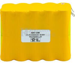 Packs de baterías recargables 24 Voltios 2.000 mAh NI-CD 112,0x85,0x45,0mm