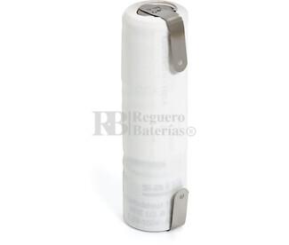 Packs de baterías recargables 3.6 Voltios 110 mAh 1-3AA NI-CD 14,0x50,5mm