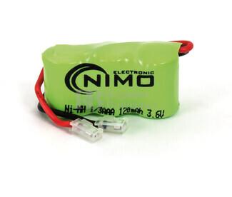 Packs de baterías recargables 3.6 Voltios 120 mAh 1-3AAA NI-MH 31,0x16,5x10,5mm