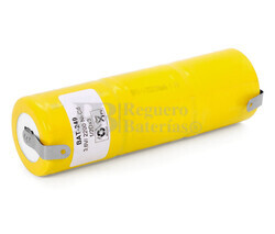 Packs de baterías recargables 3.6 Voltios 2.200 mAh RC1/D NI-CD 32,5x105,0mm