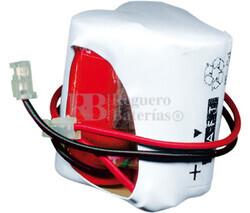 Packs de baterías recargables 3.6 Voltios 300 mAh 1/2AA NI-CD 28,0x30,0x28,0mm